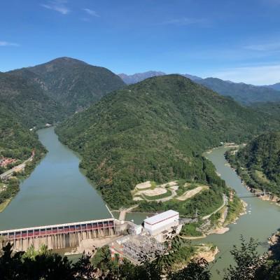 赤崎山展望台からの風景(鹿瀬ダム)