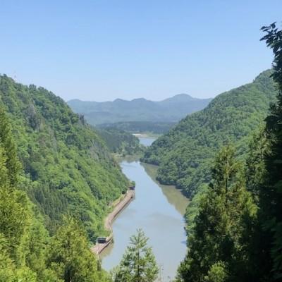 林道黒岩大牧線からの風景
