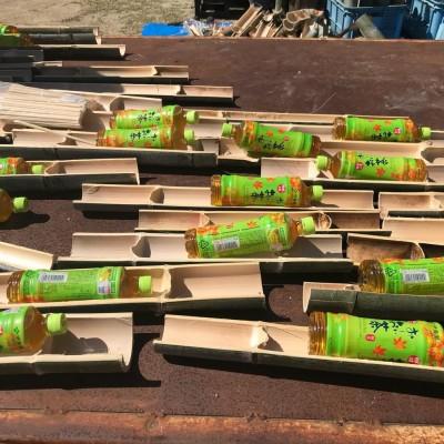 みはまの竹の器はあとで青竹踏みに使ってくださいね。
