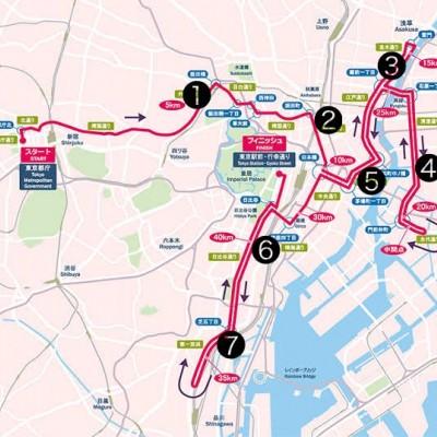 東京マラソンコース試走