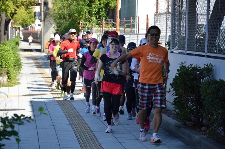 大阪マラソンの試走練習会などや、名古屋、東京でも練習会を行っています。