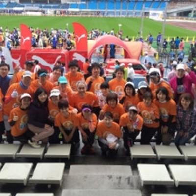川崎国際多摩川マラソンにて