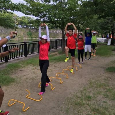 大阪城公園 早朝ランニング練習会 Viento Running Club