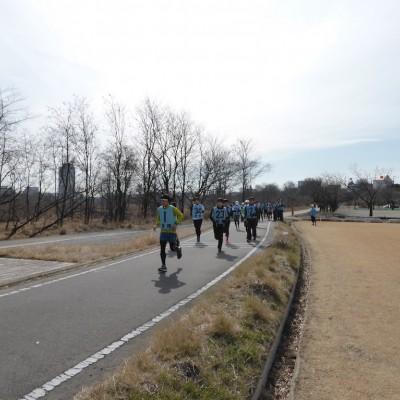 走力に応じたグループで走るので無理なく参加できます。