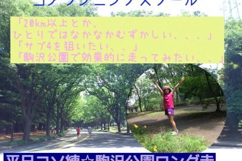 平日コソ練☆ロング走にチャレンジIn駒沢公園 コアランニングスクール