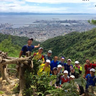 七兵衛山山頂からの港・神戸の絶景