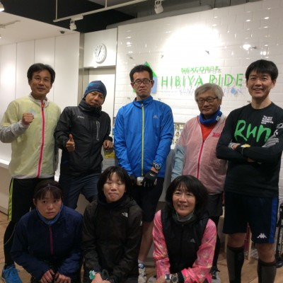 ランステ:皇居 ペース走(キロ5分&5分半) 1月