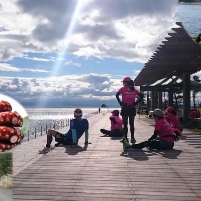 春!ず~と海見て走れる30km、瀬戸内『とびしま海道』 下蒲刈2周ランランラン♪