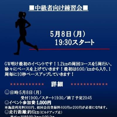 【中級者向け】 6kmビルドアップ走~GWでなまった体を鍛えよう~