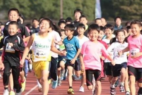 はんだシティマラソン2017 マラソン部門1.3km(小学生)