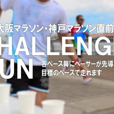 大阪・神戸のマラソン直前チャレンジラン