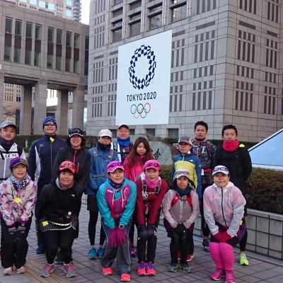 ランステ:「東京M」コース試走 街ラン42km(30kmの部併設)12月④