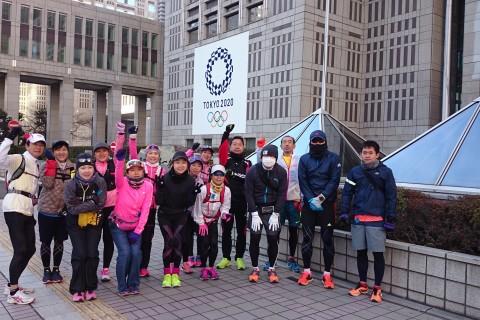 ランステ:「東京M」コース試走 街ラン42km(30kmの部併設)12月③