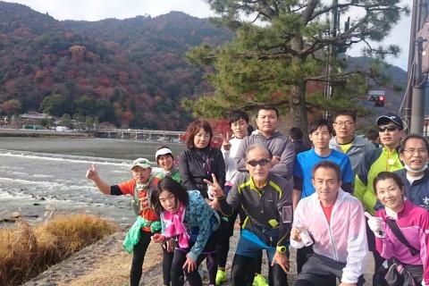 ランステ:「京都M」のコース試走 街ラン 42km 2017年12月②