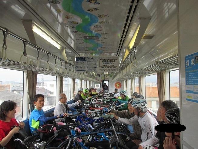自転車をそのまま積み込む特別列車