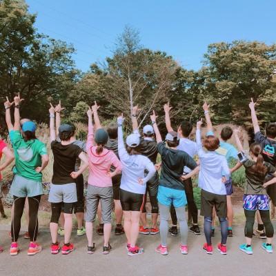 フルマラソン完走プロジェクト第4回練習会 八雲氷川神社マラソン腹痛防止祈願&足裏アキレス腱痛予防トレ