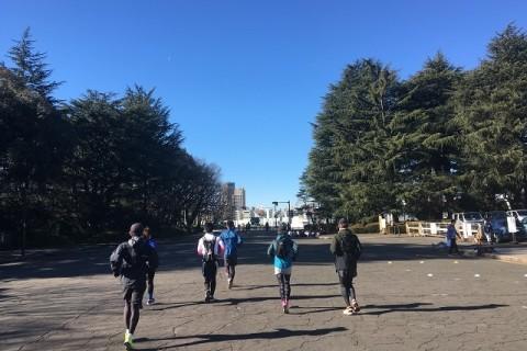 ★新春新宿シティロード 大会コースご機嫌ノンストップ21.0975km走