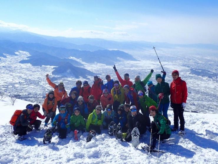 スノーシューで高社山登頂!