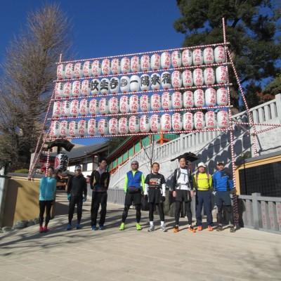 クリスマス前日は文豪哲学ラン!恵方参りを体験し、記録更新も叶う30km&20km&13km他