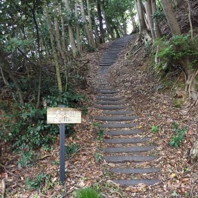 若狭総合公園 天ヶ城山へのtrail入口