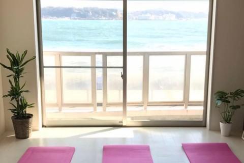 ピラティスレッスン 鎌倉 海の見えるスタジオにて開催