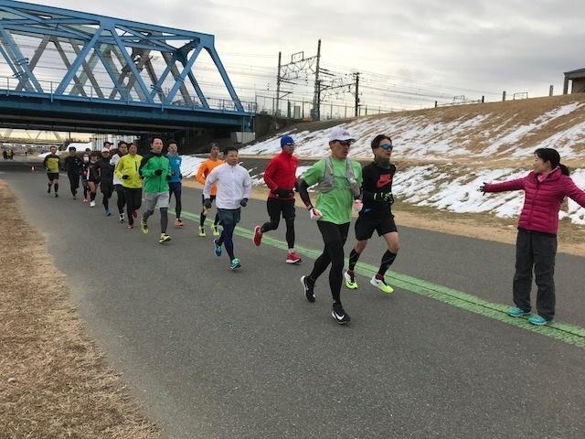 豊洲ぐるり公園や、荒川の河川敷(北千住の虹の広場がスタート)で定期的に開催する30㎞ペース走「ランステ『プレ●●』シリーズ」メインレースの1か月前に30㎞きっちり走れますよ。