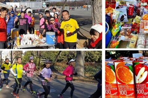 マラソン完走クラブ 駒沢公園給水給食ラン