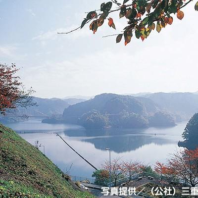 山間部の美しい湖を走る青蓮寺湖周回コース(名張市)