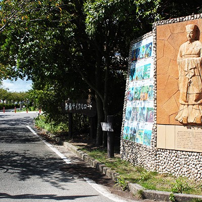 桜のトンネルを走る・徐福サイクルロードコース(佐賀市)