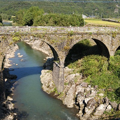 深い渓谷をつなぐ院内の石橋めぐりランコース(宇佐市)