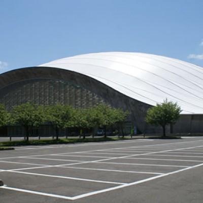 秋田空港を囲む広大な緑地、中央公園コース(秋田市)