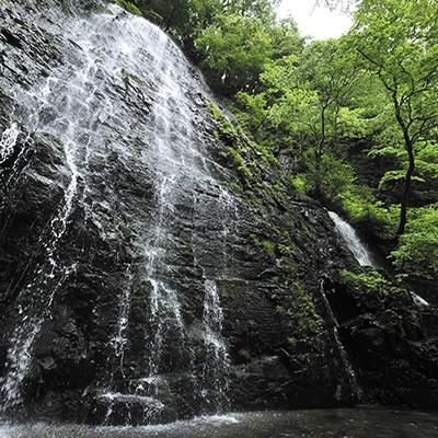 緑深い山村と名瀑・田園風景と龍双ケ滝コース(池田町)