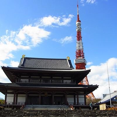 東京タワーのお膝元、芝公園、増上寺~日比谷コース(港区)
