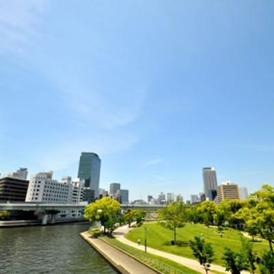 ビジネス街の憩いの場。中之島コース(大阪市)