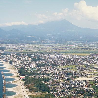 大山を望む美しい浜・皆生温泉海岸通りコース(米子市)