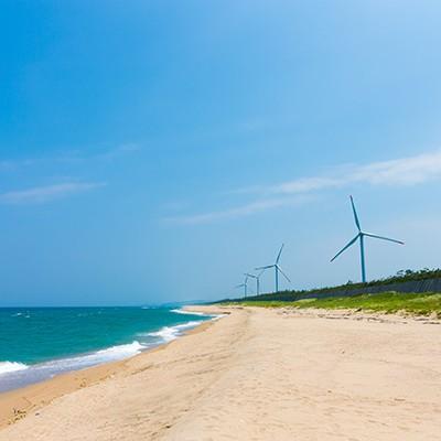 由良台場跡~風車を眺める日本海コース(北栄町)