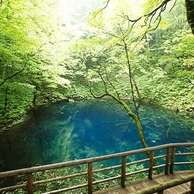 十二湖、日本キャニオンと白神山地ランコース(深浦町)