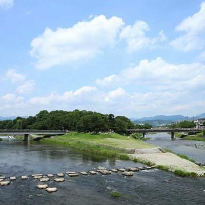 鴨川沿いから出町三角州コース(京都市)
