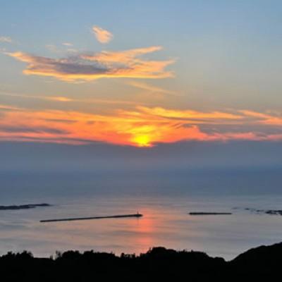 日本海の夕日と温泉!若美駅伝コース(男鹿市)