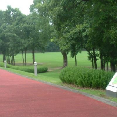 緑豊かな丘陵地。かごしま健康の森公園コース(鹿児島市)
