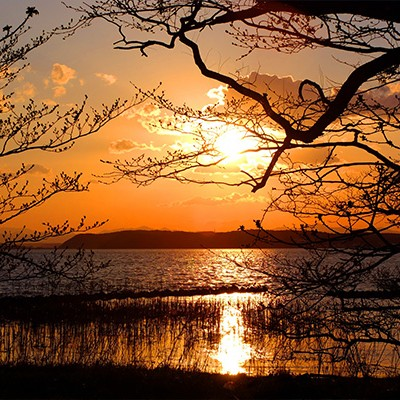 太平洋につながる汽水湖・小川原湖畔コース(東北町)