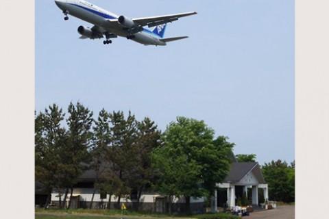 飛行機が近い!庄内空港緩衝緑地一周コース(酒田市)