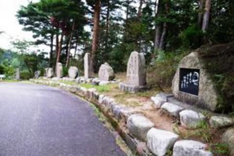 詩情豊かな句碑の道・五頭山麓やまびこ通りコース(阿賀野市)