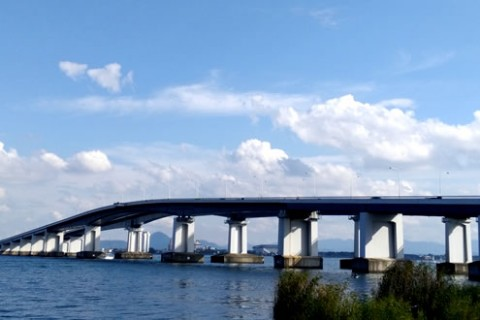 湖上を走る!「琵琶湖大橋」往復コース(大津市)