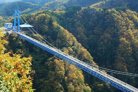 本州一の歩行用橋、竜神大吊橋を渡ろうコース(常陸太田市)