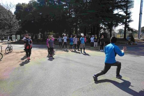 45分でランニングフォームががらっと変わる!直後に1.3kmペース走5本 横浜根岸森林公園