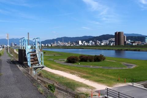 三瀧寺からの眺望も楽しむ!太田川放水路コース(広島市)