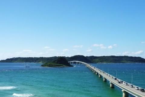白い砂浜と紺碧の海!角島大橋絶景コース(下関市)
