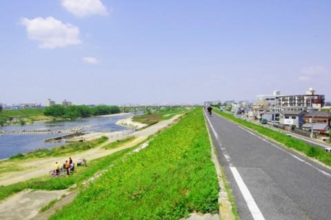 公園で休憩もできる境川サイクリングロードコース(大和市)