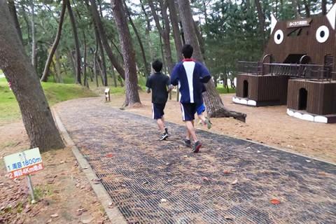 木陰でクロカン、光が丘公園コース(酒田市)